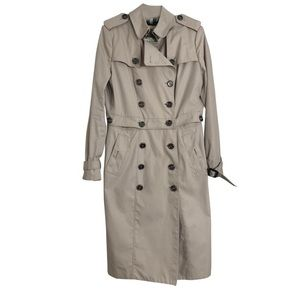 •burberry• convertible tan button trench coat